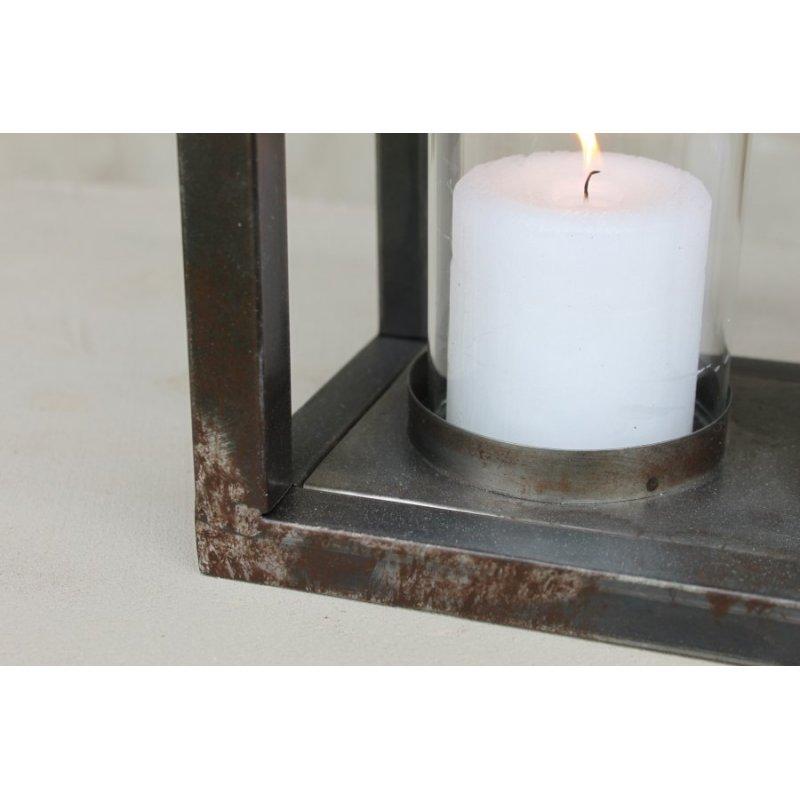 windlicht laterne metall modern dekocharme. Black Bedroom Furniture Sets. Home Design Ideas