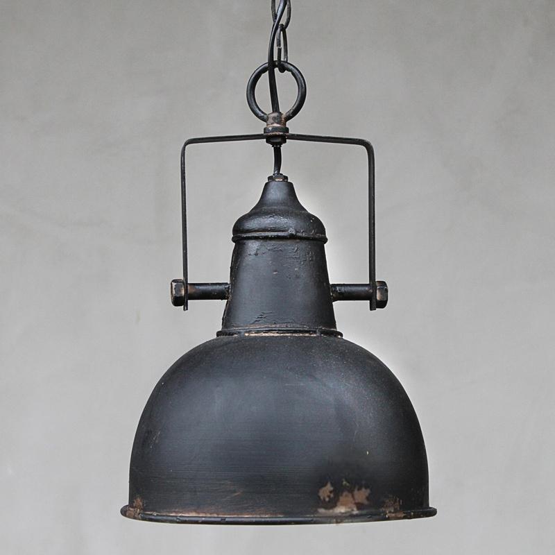 vintage industrielampe shabby schwarz dekocharme. Black Bedroom Furniture Sets. Home Design Ideas