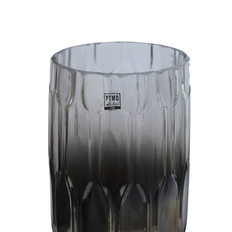 glas windlicht vase silber gro dekocharme. Black Bedroom Furniture Sets. Home Design Ideas