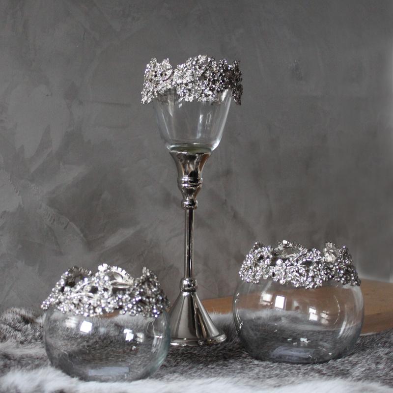 Teelichthalter Glas Mit Stiel : strass teelichthalter metall glas mit stiel silber ~ A.2002-acura-tl-radio.info Haus und Dekorationen