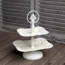 Vintage Etagere Metall Creme Weiß Shabby chic
